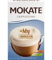 MOKATE CAPPUCCINO Z MAGNEZEM 160 G (20 G X 8)