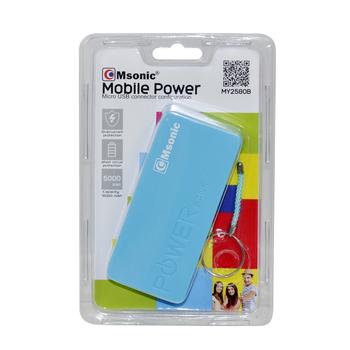 POWERBANK 5000 MAH NIEBIESKI MSONIC MY2580B