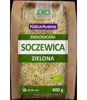 NATURAVENA EKOLOGICZNA SOCZEWICA ZIELONA 400G