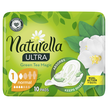 NATURELLA ULTRA NORMAL GREEN TEA PODPASKI 10 SZTUK