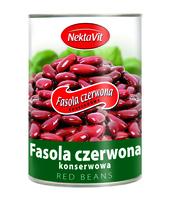 FASOLA CZERWONA KONSERWOWA 400G NEKTAVIT