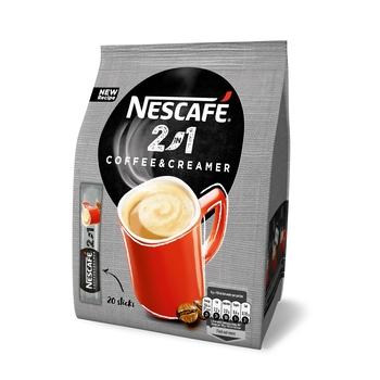 NESCAFÉ 2IN1 COFFEE & CREAMER ROZPUSZCZALNY NAPÓJ KAWOWY 20 X 8G