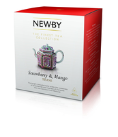 HERBATA NEWBY STRAWBERRY & MANGO PIRAMIDY 15 SZT. 60 GRAM