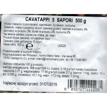 CAVATAPPI 5 SAPORI 500 G NONNO MARIO