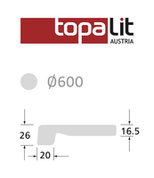 BLAT TOPALIT FI600 CZARNY