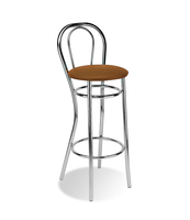 HOCKER ADRIA CHROME BEŻOWY V49