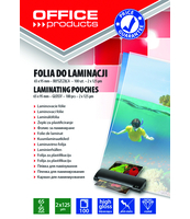 FOLIA DO LAMINACJI OFFICE PRODUCTS 65X95MM 2X125MIC 100SZT TRANSPARENTNA