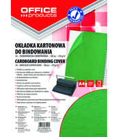 OKŁADKA DO BINDOWANIA KART. SKÓROP. OFFICE PRODUCTS A4 ZIELONA