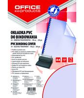 OKŁADKI DO BINDOWANIA OFFICE PRODUCTS PVC A4 200MIKR 100SZT NIEBIESKIE TRANSPARENTNE