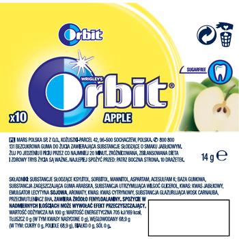 ORBIT APPLE 10 DRAŻETEK/14G