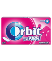 ORBIT FOR KIDS BUBBLE GUM 14 PASKÓW/27G