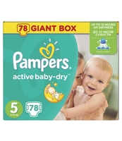 PAMPERS ACTIVE BABY-DRY PIELUCHY 5 JUNIOR 78 SZT.