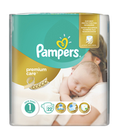 PAMPERS PREMIUM CARE PIELUCHY 1 NEWBORN 22 SZT.