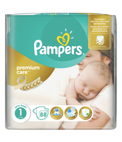 PAMPERS PREMIUM CARE PIELUCHY 1 NEWBORN 88 SZT.