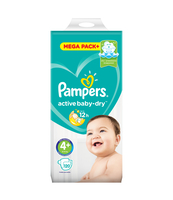 PAMPERS ACTIVE BABY-DRY PIELUSZKI 4+ (MAXI+), 120 SZTUK