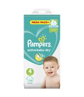 PAMPERS ACTIVE BABY-DRY PIELUSZKI 4 (MAXI), 132 SZTUKI