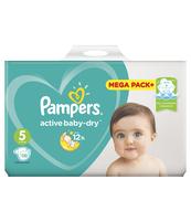 PAMPERS ACTIVE BABY-DRY PIELUSZKI 5 (JUNIOR), 110 SZTUK