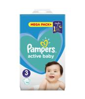 PAMPERS ACTIVE BABY ROZMIAR 3, 152 PIELUSZKI, 6-10 KG