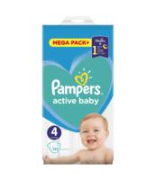 PAMPERS ACTIVE BABY ROZMIAR 4, 132 PIELUSZKI, 9-14 KG