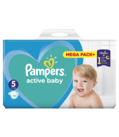 PAMPERS ACTIVE BABY ROZMIAR 5, 110 PIELUSZEK, 11-16 KG