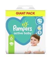 PAMPERS ACTIVE BABY ROZMIAR 6, 56 PIELUSZEK, 13-18 KG