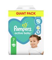 PAMPERS ACTIVE BABY ROZMIAR 7, 52 PIELUSZKI, 15 + KG