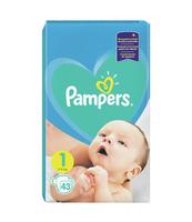 PAMPERS ACTIVE BABY, ROZMIAR 1, 43 PIELUSZEK, 2KG-5KG