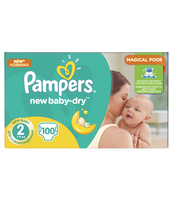 PAMPERS NEW BABY-DRY PIELUCHY 2 MIDI 100 SZT.