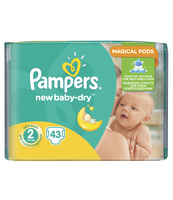 PAMPERS NEW BABY-DRY PIELUCHY 2 MINI 43 SZT.
