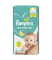 PAMPERS NEW BABY-DRY PIELUCHY 2 MINI 66 SZT.