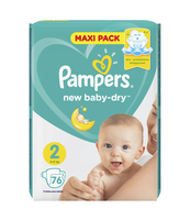 PAMPERS NEW BABY-DRY PIELUCHY 2 MINI 76 SZT.