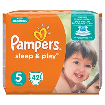 PAMPERS SLEEP&PLAY ROZMIAR 5 JUNIOR , 42 SZTUKI