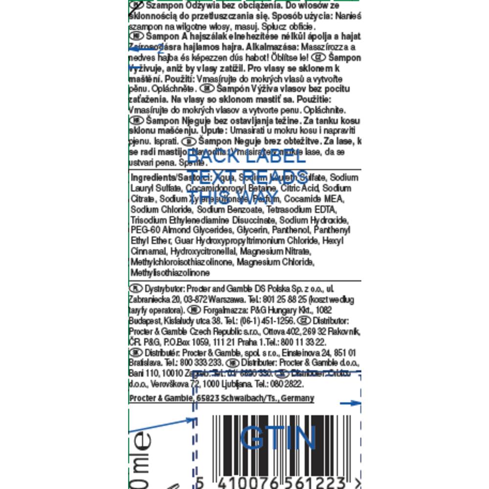 PANTENE PRO-V AQUALIGHT SZAMPON DO WŁOSÓW 400 ML