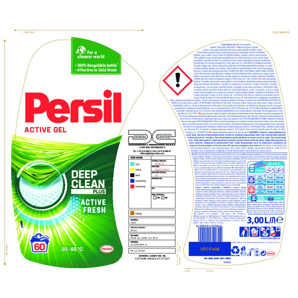 PERSIL GEL REGULAR 60P 3L