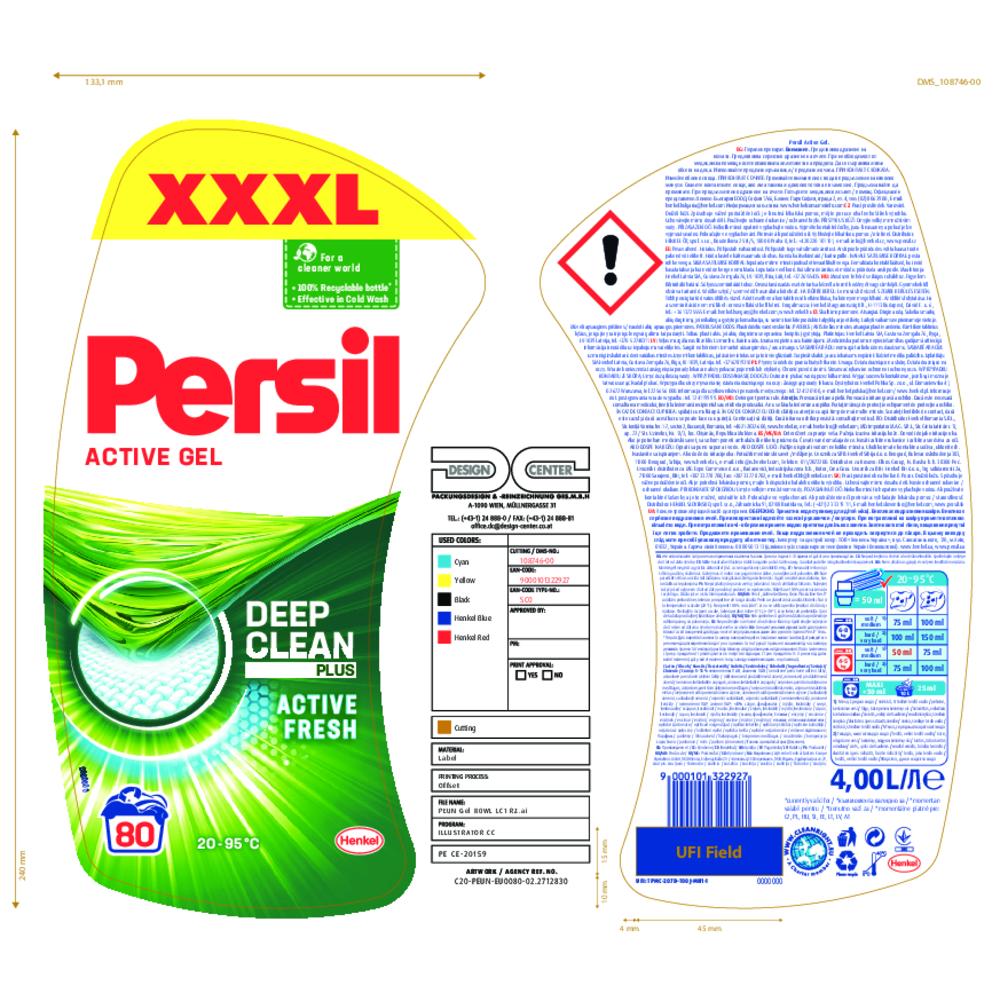 PERSIL GEL REGULAR 80P 4L