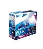 PŁYTA BLU-RAY RECORDABLE PHILIPS 25GB JC 5 SZT.