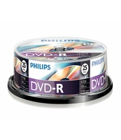 PŁYTA DVD-R PHILIPS 4,7GB SP 25 SZT.