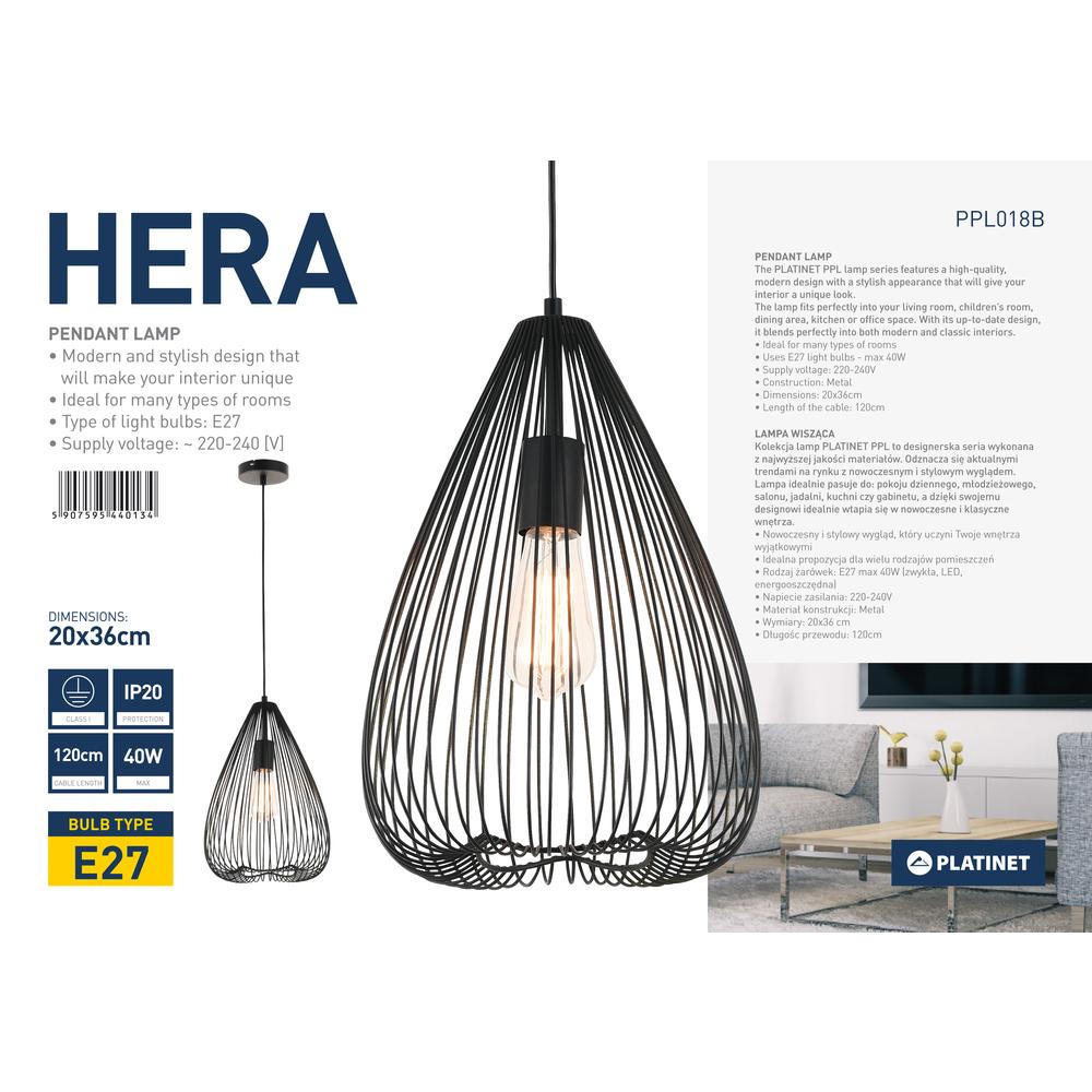 """LAMPA WISZĄCA PLATINET """"HERA"""""""