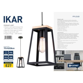 """LAMPA WISZĄCA PLATINET """"IKAR"""""""