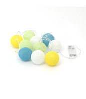 ŁAŃCUCH COTTON BALLS PLATINET KULE