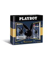 PLAYBOY KING OF THE GAME WODA PO GOLENIU 100ML, DEZODORANT SPRAY 150ML