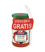 PODRAVKA PASTA AJVAR ŁAGODNY 195G + ŁYŻECZKA GRATIS