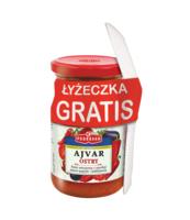 PODRAVKA PASTA AJVAR OSTRY 195G + ŁYŻECZKA GRATIS