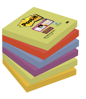 POST-IT® SUPER STICKY KARTECZKI SAMOPRZYLEPNE, PALETA MARRAKESZ, 76X76 MM, 6X90 KARTEK