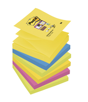 POST-IT® SUPER STICKY Z-NOTES, PALETA RIO DE JANEIRO, 76X76MM, 6X90 KARTECZEK