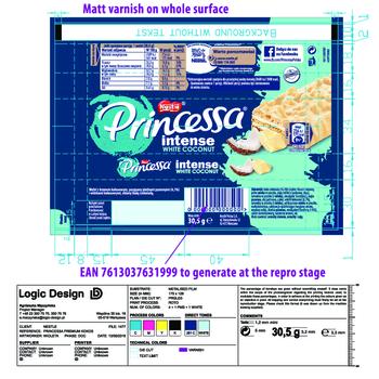 PRINCESSA INTENSE WHITE COCONUT 30,5G