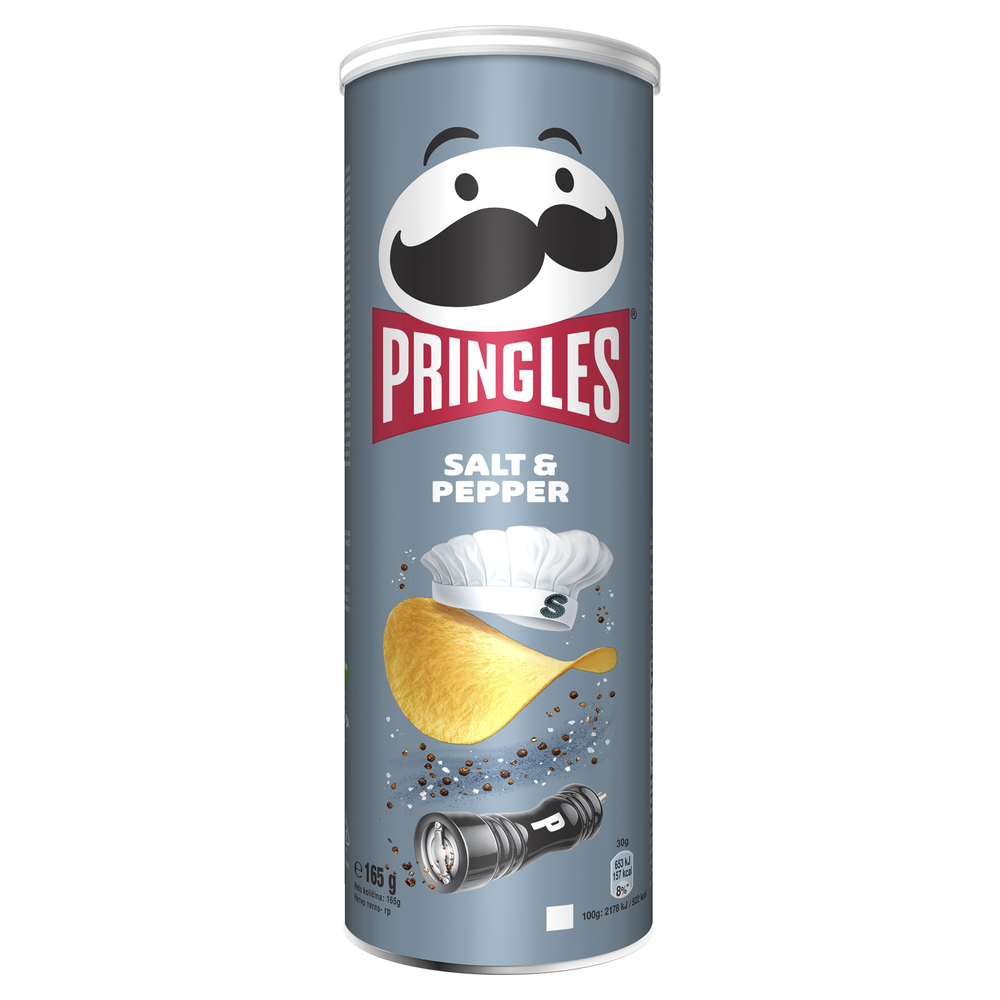 PRINGLES SALT & PEPPER 165 G