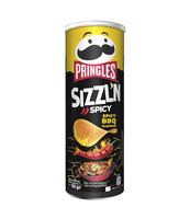 PRINGLES SIZZLN 160G SPICY BBQ.