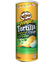 PRINGLES TORTILLA SOUR CREAM & ONION 160 G