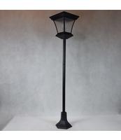 LAMPA SOLARNA STYLIZOWANA 120 CM W KOLORZE CZARNYM